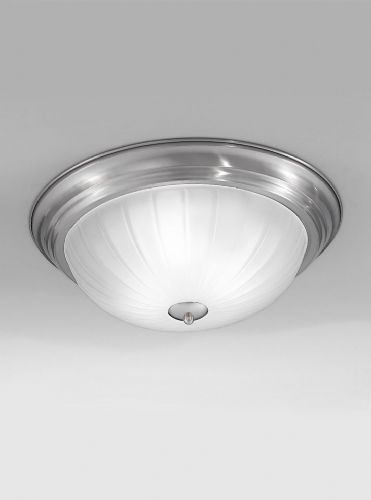 Franklite CF5642 Satin Nickel Flush Light